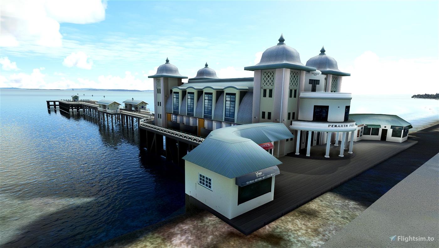 Penarth Pier, South Glamorgan, UK. Handcrafted for MSFS Microsoft Flight Simulator