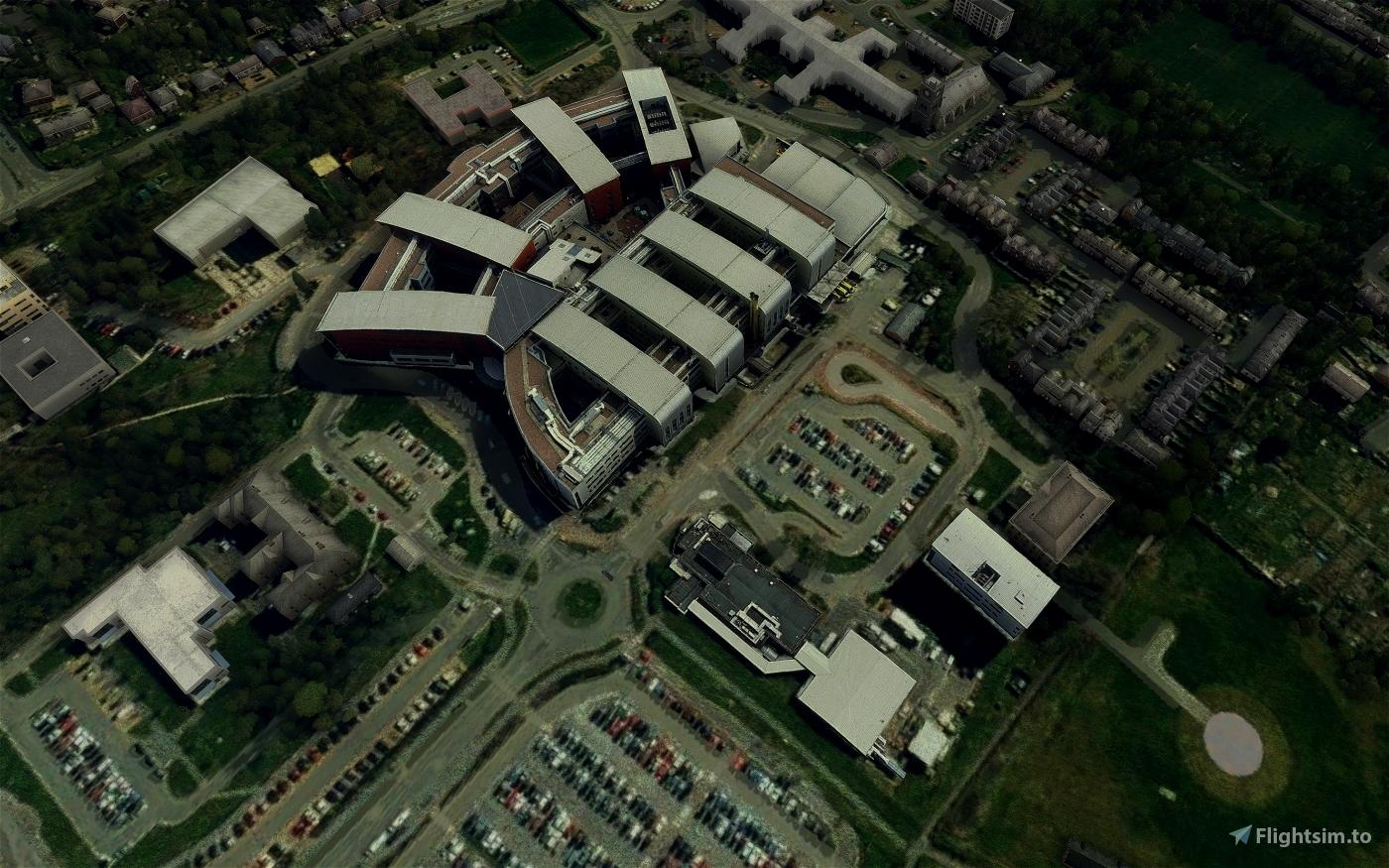 Pinderfields General Hospital & Helipad | Wakefield, UK