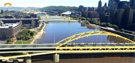 Pittsburgh, Fort Duquesne Bridge Microsoft Flight Simulator