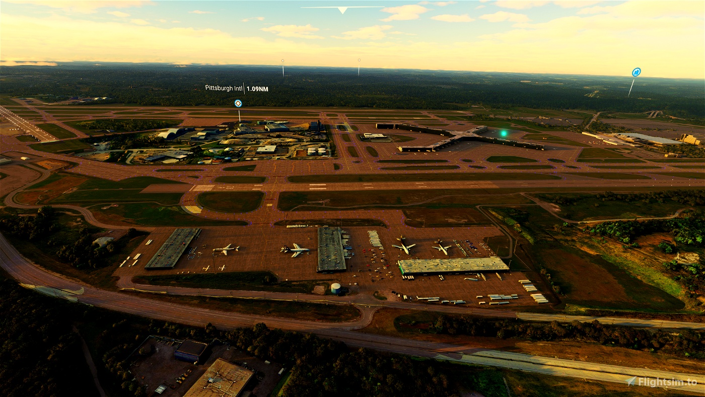 Pittsburgh International ( KPIT ) Cargo Area Scenery Pack 04 Microsoft Flight Simulator