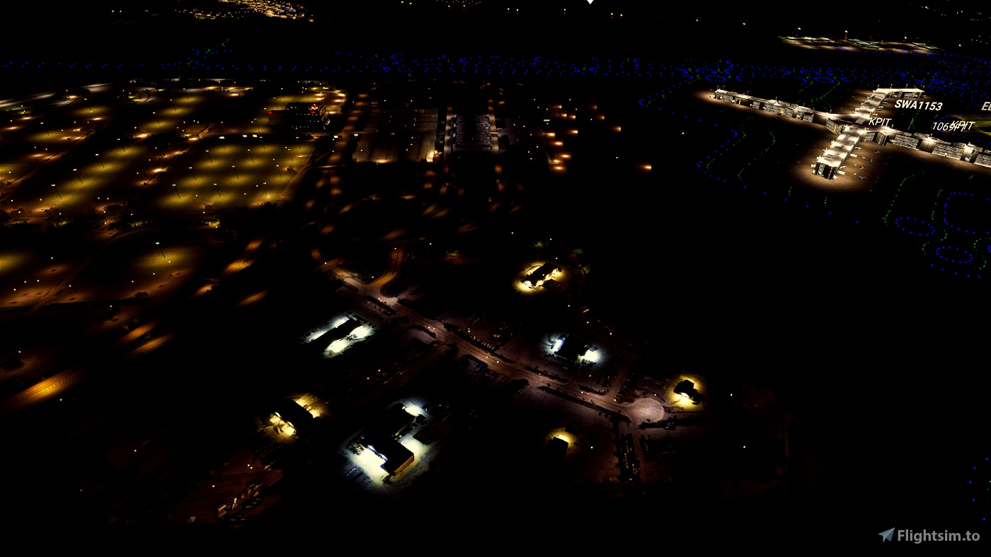 Pittsburgh International ( KPIT ) Rental Car Lots Scenery Pack 05