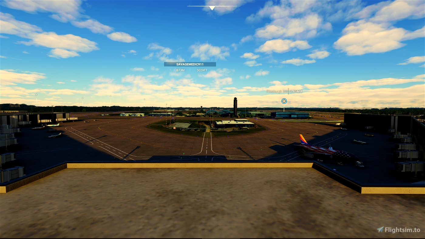 Pittsburgh International ( KPIT ) Terminal & Tarmac Lighting Scenery Pack 03 Microsoft Flight Simulator