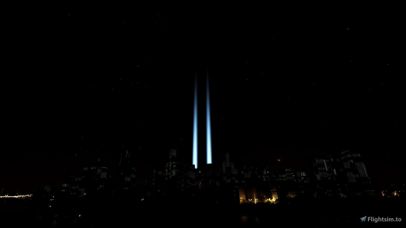 September 11 Tribute Lights - 9/11 Microsoft Flight Simulator