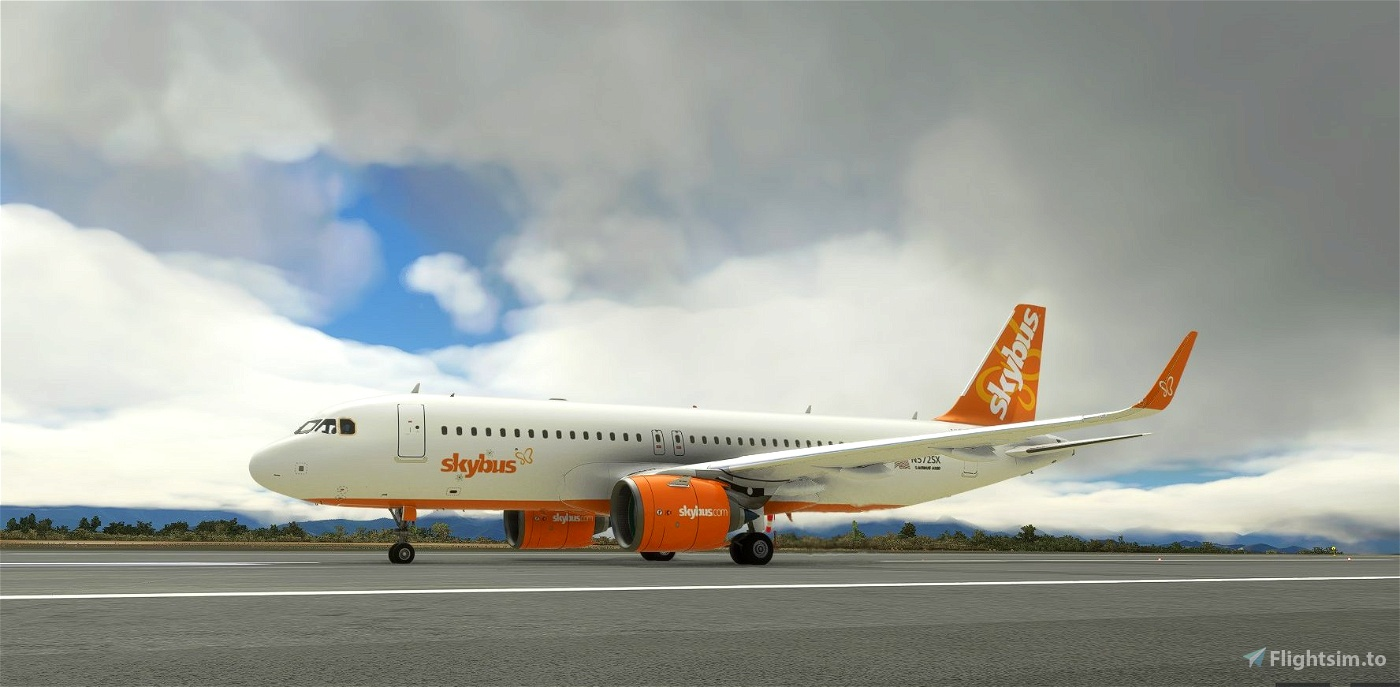 Skybus livery for FBW A32NX Microsoft Flight Simulator