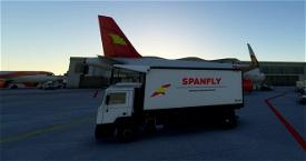 SPANFLY Ground Catering Truck Microsoft Flight Simulator