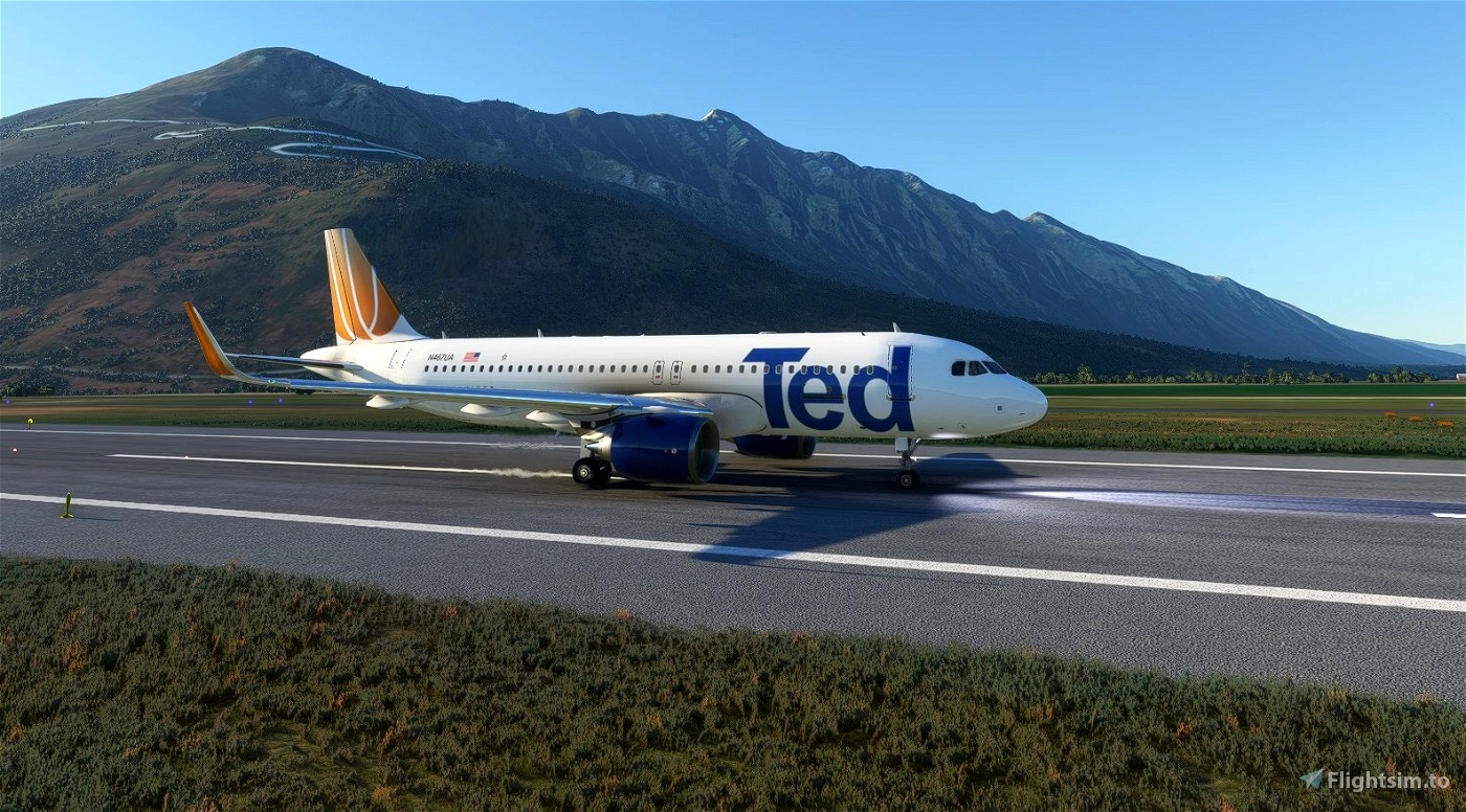 Ted (United Airlines) livery for FBW A32NX