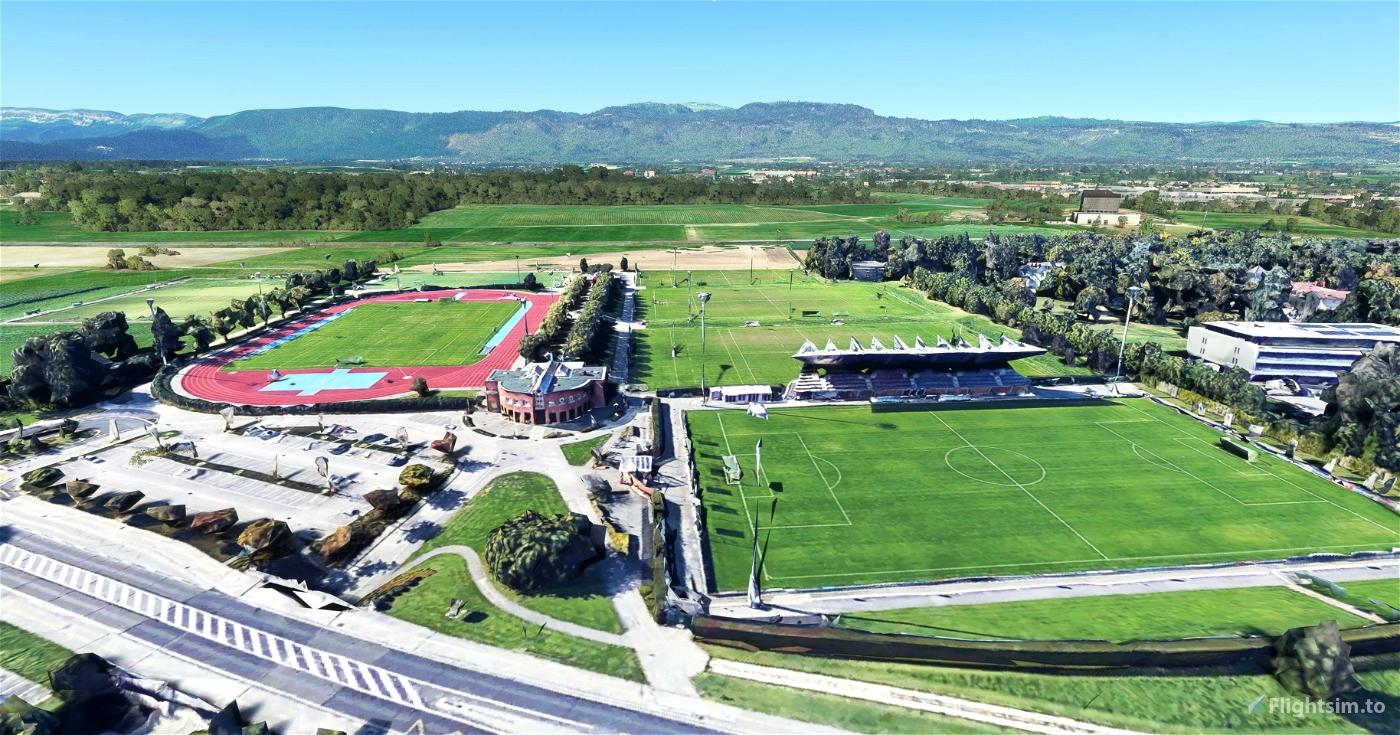 UEFA building and surroundings - Nyon - Switzerland