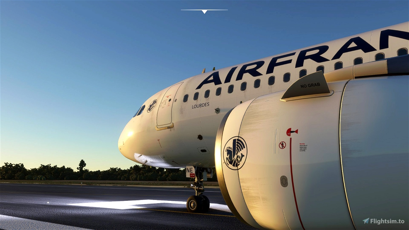 "[A32NX] A320Neo Air France ""La Crevette"" Liveries (clean/dirt)"