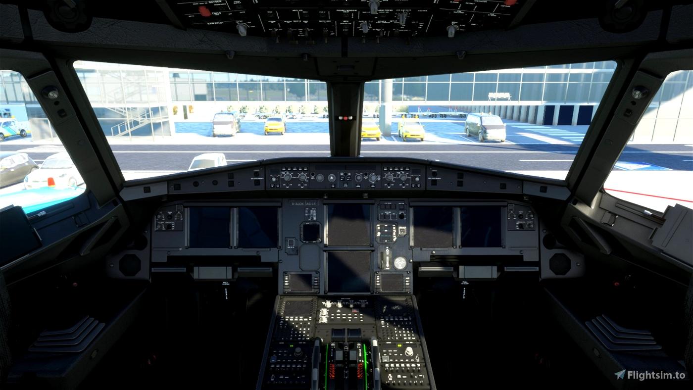 FBW A32NX - Lokomotive Leipzig V2.1 Custom Cockpit & Lights Microsoft Flight Simulator