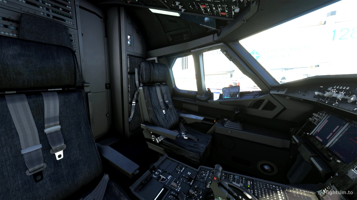 FBW A32NX - Lokomotive Leipzig V2.1 Custom Cockpit & Lights
