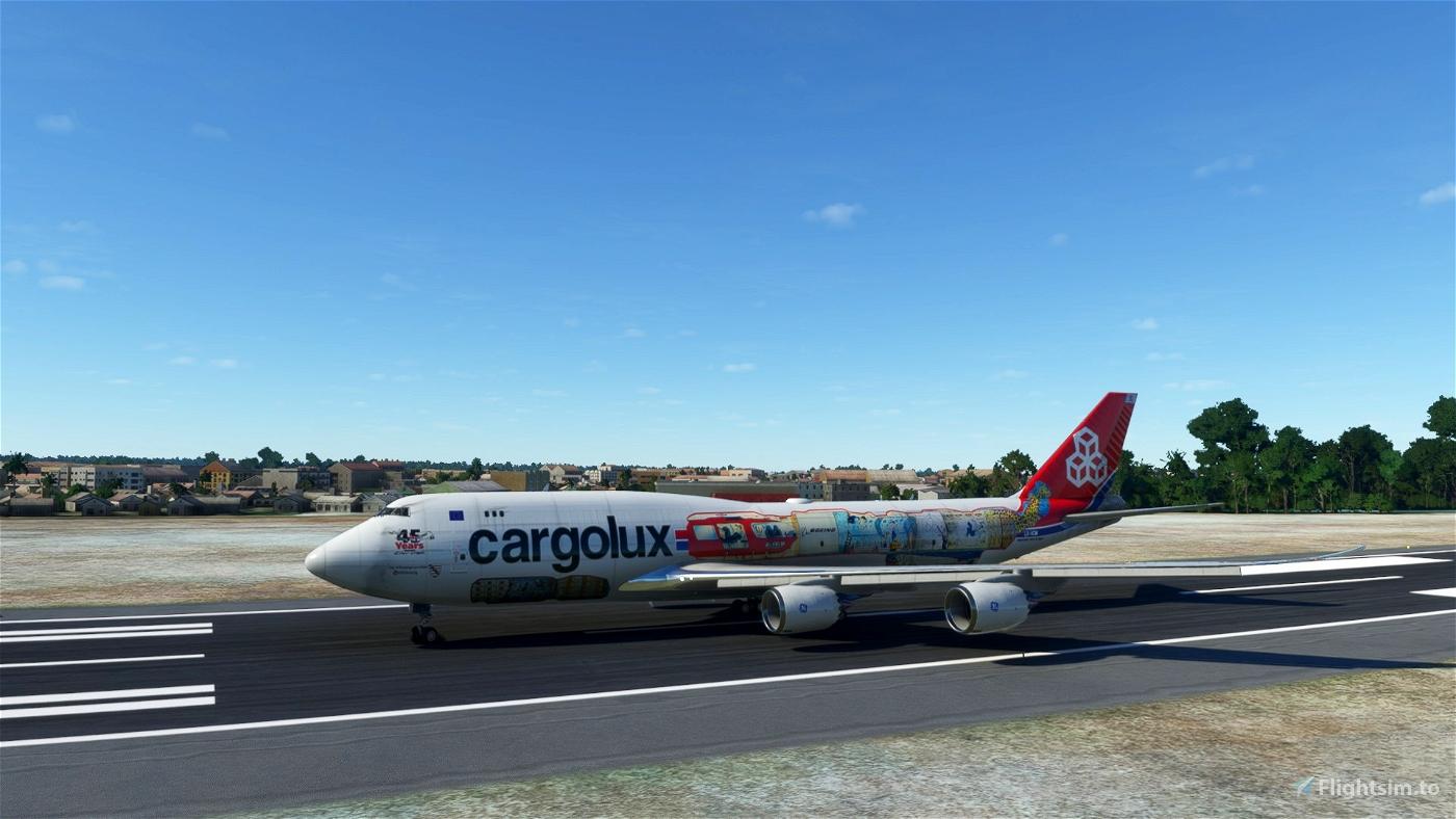 Asobo 747-8 BCF Cargolux 45 Years [No mirroring]