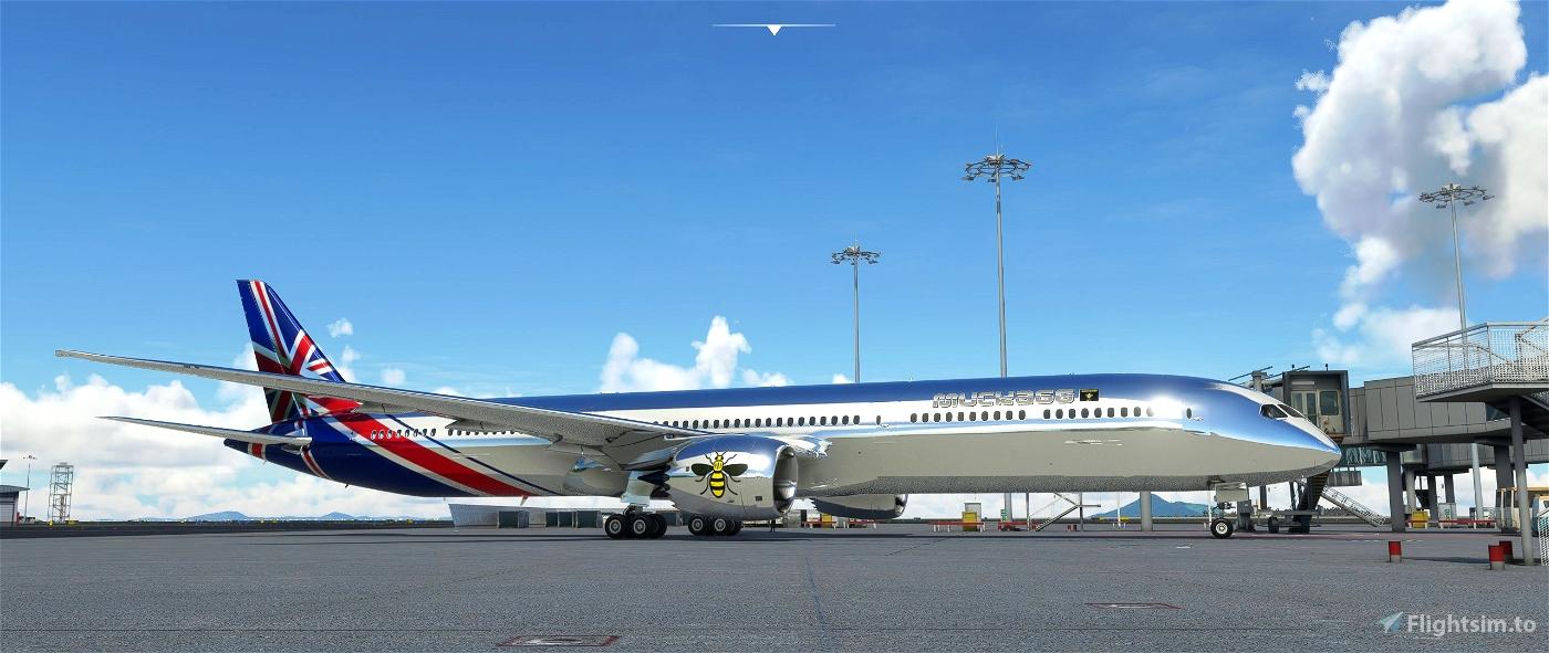 B787 MUCKA66'S CHROME LIVERY(REQUESTED LIVERY) Microsoft Flight Simulator