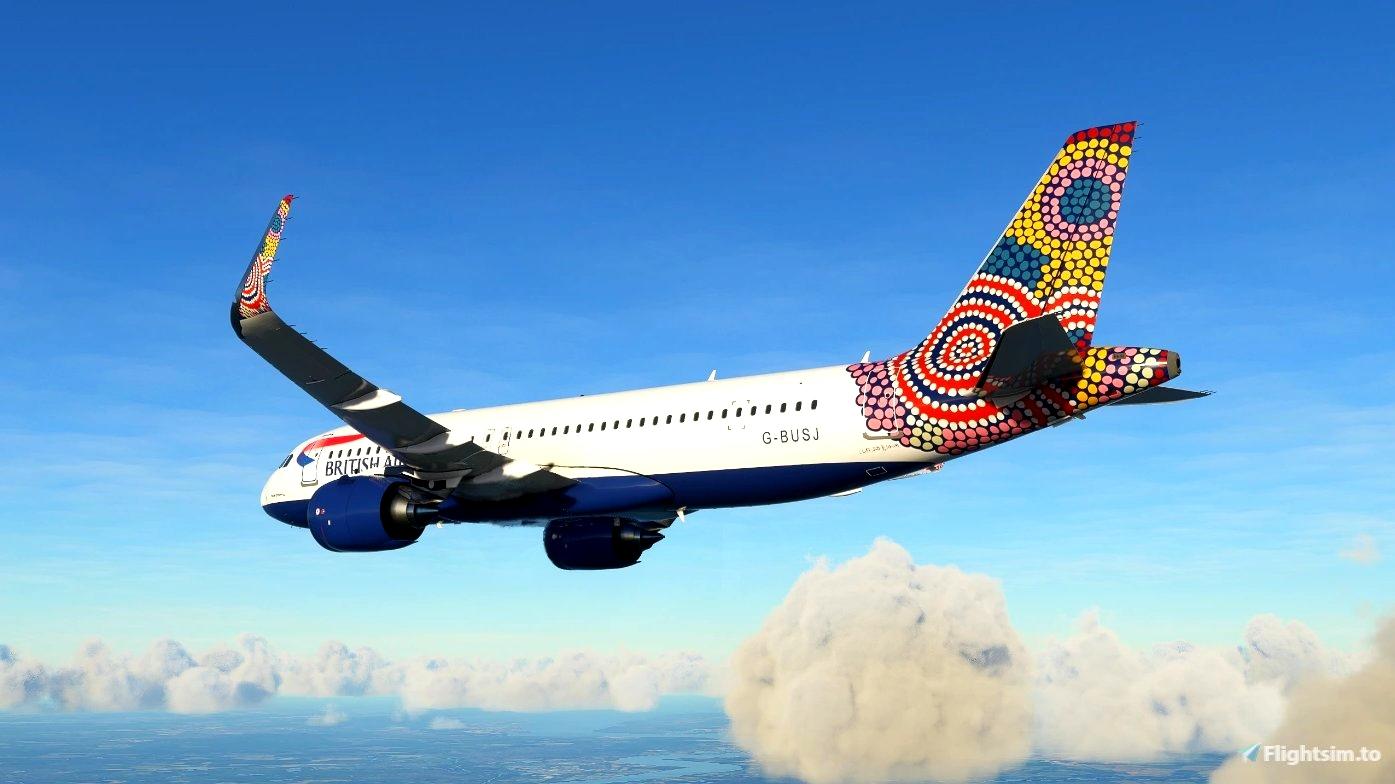 "British Airways ""Water Dreaming"" - FBW A32NX Microsoft Flight Simulator"