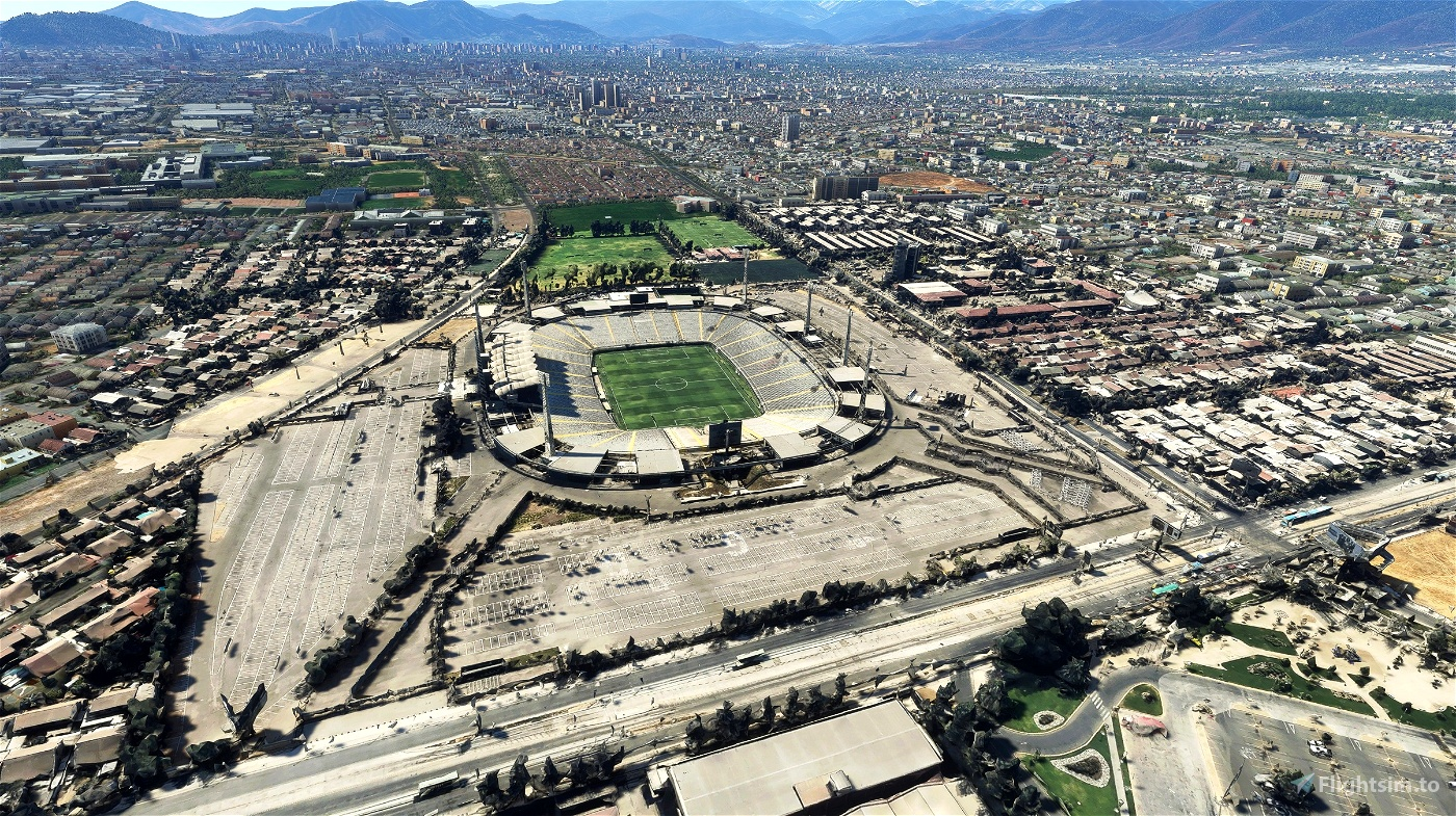 Estadio Monumental David Arellano - Santiago - Chile Microsoft Flight Simulator