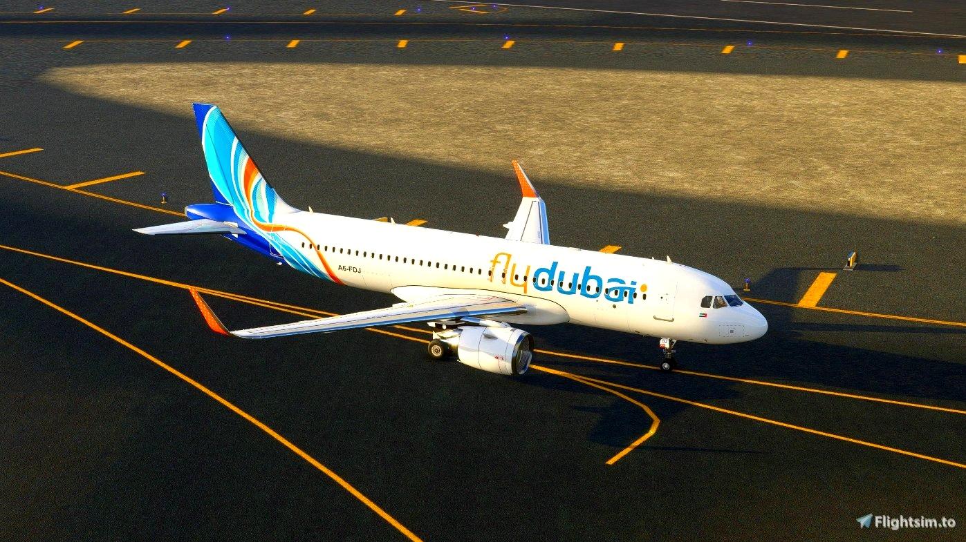 FlyDubai - FBW A32NX Microsoft Flight Simulator