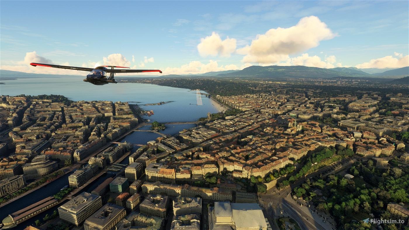 Geneva City Microsoft Flight Simulator