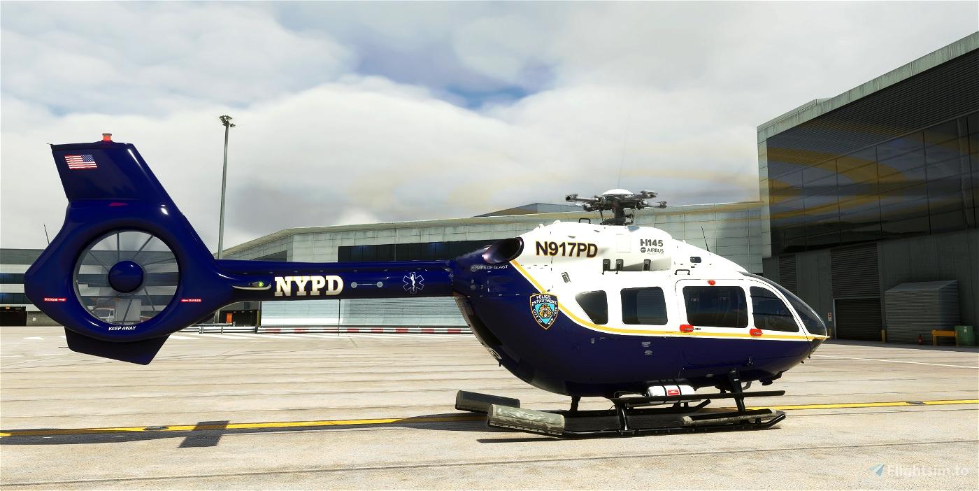 H145 New York Police Department Livery (Fictional) Microsoft Flight Simulator
